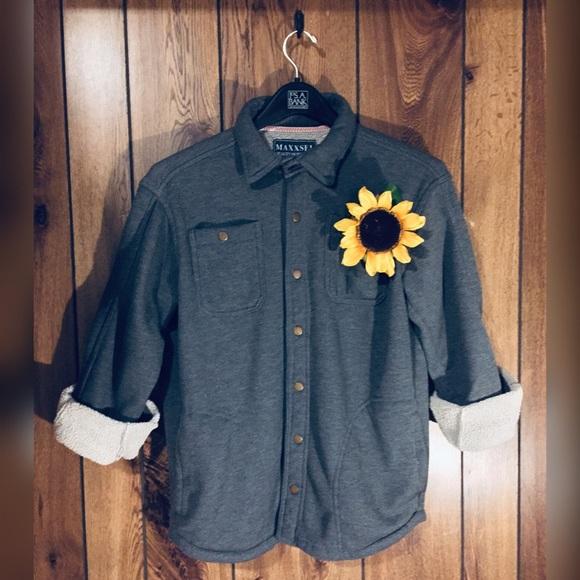 💕 Sherpa Bonded Waffle Shirt Jacket 😎😊